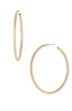 Find This Pin And More On For Me Please Women S Nadri Pave Inside Out Hoop Earrings Gold