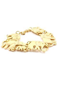 Baby Elephant Bracelet. WANT!! So cute!!