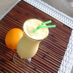"Easy Orange Cream Slush | ""Absolutely delicious! Just like an Orange Julius!"""
