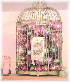 Birdcage for Christmas by Bluebird Becca, via Flickr