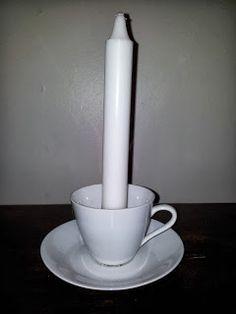 Kahvikuppi kynttilä