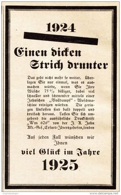 Original-Werbung/ Anzeige 1925 - WASCHMASCHINEN JOHN / ERFURT - ILVERSGEHOFEN - ca. 75 x 115 mm