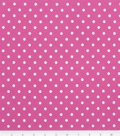 Keepsake Calico Cotton Fabric- Chic Bebe Dots Pink/White