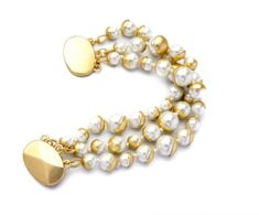 easy to wear to work and brighten up any outfit. A little glam never does astray. Pearl Bracelet, Beaded Bracelets, Fashion Bracelets, Fashion Jewelry, Matte Gold, Pearl White, Career, Bangles, Brass