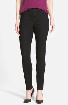 Wit & Wisdom 'Super Smooth' Stretch Skinny Jeans (Black) (Nordstrom Exclusive) available at #Nordstrom
