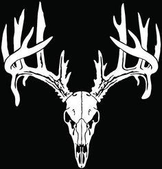 Deer Buck Antlers Skull Hunting Car Truck Window Bumper Vinyl Graphic Decal Sticker- (8 inch) / (20 cm) Tall GLOSS WHITE Color StickerLove http://www.amazon.com/dp/B00UD5D70W/ref=cm_sw_r_pi_dp_x6hhwb0EV7ZW6