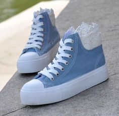 Casual Flat Heel  Canvas Shoes with Lace