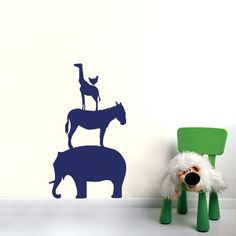 Animal Stack Decal – Navy from Wall Art Wonders - R299 (Save 34%)
