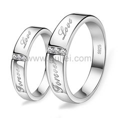 Forever Love Personalized Commitment Ring for Him and Her