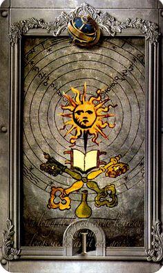 Lost Tarot of Nostradamus Ace of Spheres - If you love Tarot, visit me at www.WhiteRabbitTarot.com