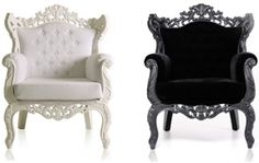 Do you like a touch of Baroque style in your modern house? Then check these new furniture pieces from Modani, which bring old and new together in a fashionable and functional way. In a classic color palette of black and white, with silver thrown in for so