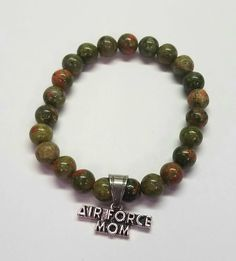 Air Force Mom Air Force Mom, Military Mom, Natural Gemstones, Beaded Bracelets, Couture, Jewelry, Jewlery, Jewerly, Pearl Bracelets