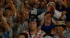 Crowd in a law court - Idiocracy