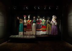 Charlie Smith Design - dual language exhibition graphics throughout the Frida Kahlo Museum #exhibition #design #Frida #Museum #fashion
