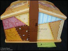 """Caixa de costura XXL """"Country Colors"""" - GataPreta Artesanato"""