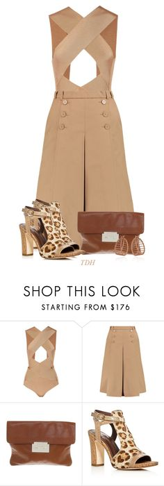 """""""Neutral"""" by talvadh ❤ liked on Polyvore featuring Balmain, Carven, Michael Kors, Donald J Pliner and Cara Tonkin"""