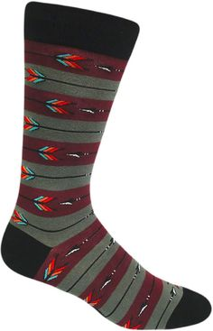 Aim for the bullseye in a pair of these men's archery socks.
