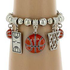 $5.25 Basketball Themed Charm Stretch Bracelet