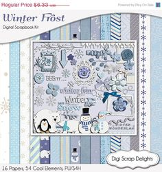 Winter Frost - January Etsy Digital Designer's Color Challenge by Gina on Etsy