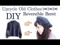 Refashion DIY Reversible Beret // リメイク ✂️ ベレー帽の作り方 | madebyaya - YouTube