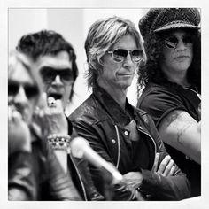 Great shot of Slash, Duff McKagan, Me & Joe Elliott @ a press conference in South Africa, June 2013