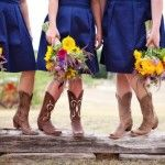 Wildflower Wedding Bouquet and boots