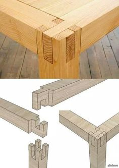 """""""Как сделать ножки для стола без выступающих частей, клея и гвоздей"""""""