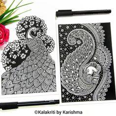 751 Likes, 61 Comments - Karishma Srivastava Zentangle Drawings, Mandala Drawing, Mandala Art, Art Drawings, Zentangles, Madhubani Art, Madhubani Painting, Landscape Sketch, Landscape Paintings