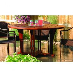 Use this outdoor table plan to build your own rugged, beautiful outdoor table with enough room for six.