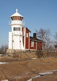 Kallo lighthouse in Pori, Finland Lighthouse Art, Beacon Of Light, Water Tower, Sea And Ocean, Places To See, Beautiful Places, Castle, Around The Worlds, Architecture