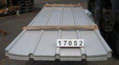 Trapezprofil 25.268/4 Dach 0.50 mm Polyester RAL 9002 grauweiß, Paket mit knapp 200qm für nur 9,48 Euro / qm. Stahlsonderprofil Hochvergütungsstahl beidseitig sendzimirverzinkt 275 gr.Zink/m² - Materialstärke: 0,50 mm Polyesterfarblackierung 25 µ Farbton ä. RAL 9002 grauweiß   Nutzdeckbreite pro Platte: 1,072 Meter Liefer-Rechnungsbreite pro Platte: 1,122 Meter Coil leer walzen