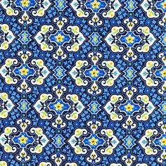 SG5682 garden charm indigo blue flowers florals swirly girls clubhouse 2013 poppy love vibrant
