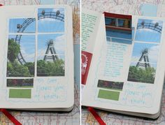 journal idea -- create a cutout puzzle from a pamphlet or other photo