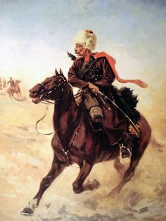 Russian Cossack during the Russo-Japanese War