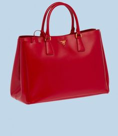 Prada red patent saffiano leather tote 1 580x669