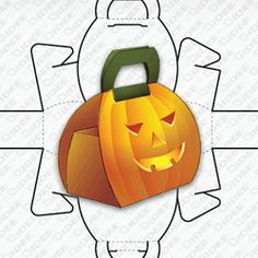 Pumpkin Shaped Box – Research on Packaging Halloween Cards, Holidays Halloween, Halloween Pumpkins, Halloween Fun, Halloween Decorations, Fall Crafts, Crafts For Kids, Diy Crafts, Pumpkin Template Printable