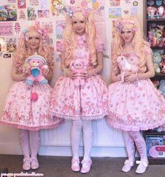 Super kawaii lolita triplets