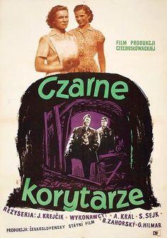 """Jan Slomczynski  Poster : """"CZARNE KORYTARZE"""", 1954"""