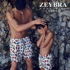 Costumi coordinati uomo-bambino Zeybra. Puoi trovarli sul nostro store online: store.clan.it #zeybra #costumibambino #costumicoordinati #boxer #summer #fabiomancini