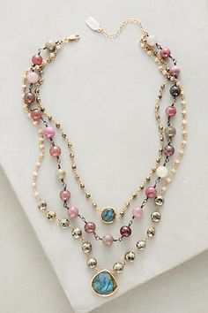 Layered Gemstone Necklace