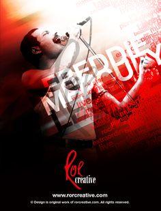 Freddie Mercury | Queen | rockstar | graphic design | art | poster | design