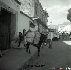 Escena de pueblo hacia 1957. Cortesía: www.MexicoEnFotos.com (Mexico)