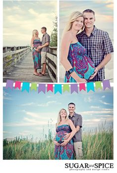 Purple and blue look great against a sunset sky...and anything looks great on a glowing mom-to-be!