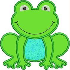 Froggy applique designs