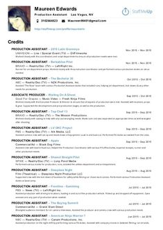 Executive Music Producer Sample Resume Freelance Production Assistant Office And Set Samples