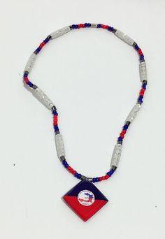 Haitian flag necklace by Diversepride on Etsy Graduation Look, Graduation Stole, Bahamas Flag, Haitian Flag, Artisan, Country, Handmade, Etsy, Jewelry