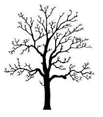 Image result for silhouettes of oak trees