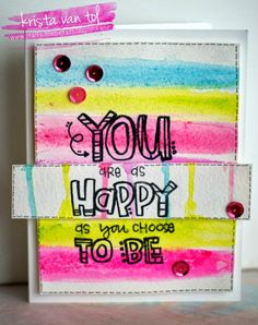 Crafty Little Pigtails: You are as happy as you choose to be...with Design Memory Craft and Unity Stamps!