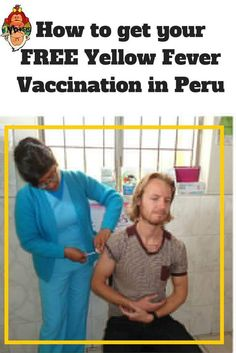 How to get your FREE Yellow Fever Vaccination in #Peru. #TravelTips #TwoMonkeysTravelGroup