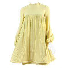 c.1967 Pierre Cardin Pleated Babydoll Dress | From a collection of rare vintage day dresses at http://www.1stdibs.com/fashion/clothing/day-dresses/